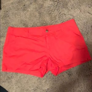 Orange casual shorts